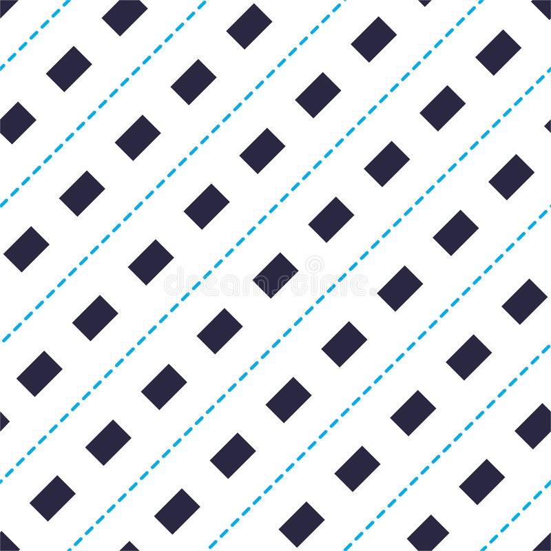 Minimal dashed lines vector seamless pattern, abstract background. Simple geometric design. Seamless lines vector minimalistic stock illustration
