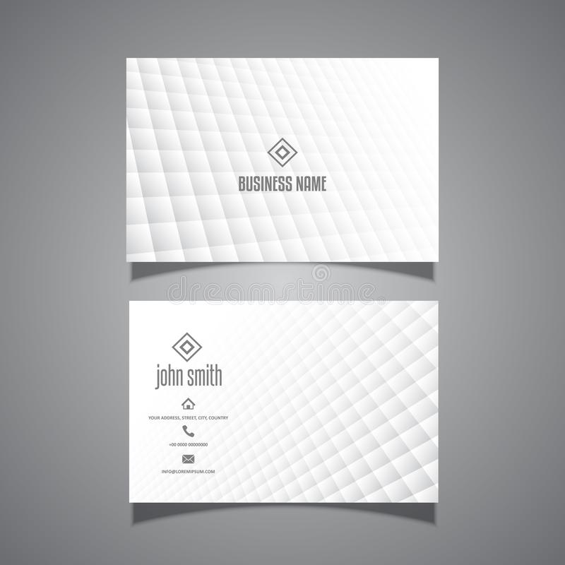 Minimal design business card royalty free illustration