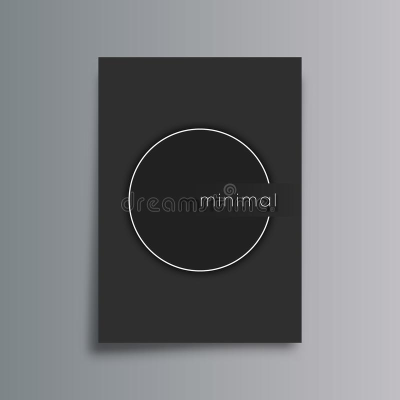 Minimal design gradient background for flyer, poster, brochure cover, portfolio template, typography or other printing products royalty free illustration