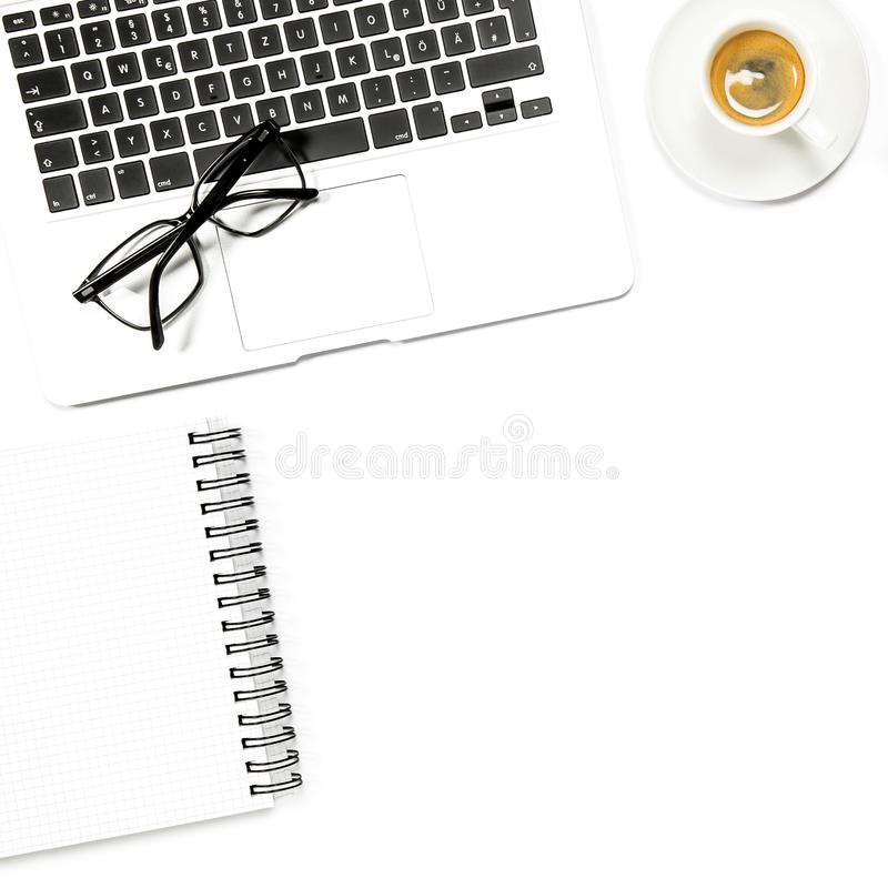 Download Minimal Flat Lay Square Laptop Notebook Coffee Stock Image - Image of school, education: 118607217