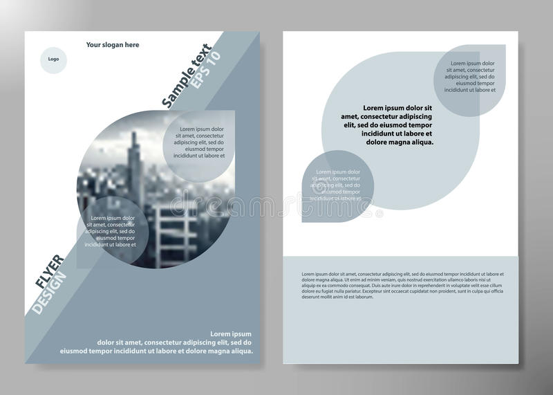 Minimal Flyers Report Business Magazine Poster Layout Portfolio