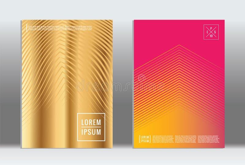 Minimal geometric cover. royalty free illustration