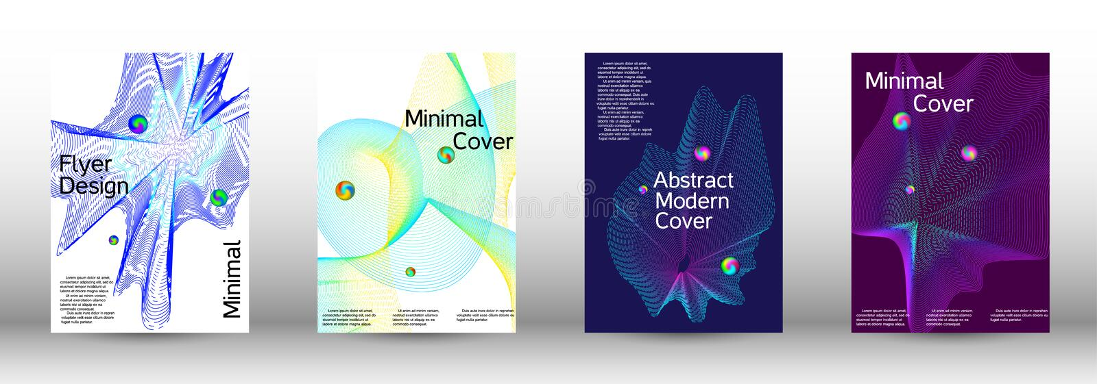 Cover design. The minimal geometric coverage. Cover design. Set of modern abstract musical backgrounds. Sound flyer for creating a fashionable  cover, banner vector illustration