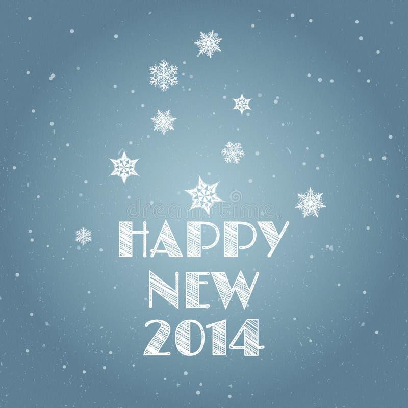 Minimal Happy New Year background stock illustration