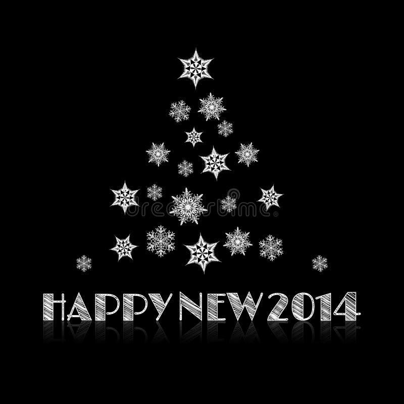 Minimal Happy New Year background royalty free illustration