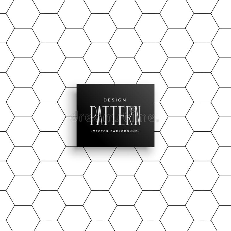 Minimal hexagonal line pattern background royalty free illustration