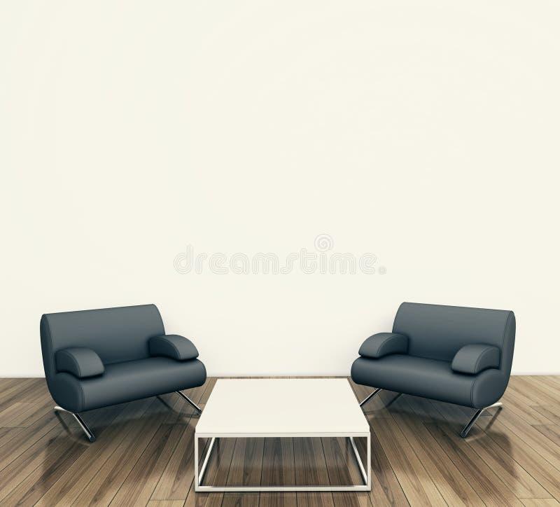 Minimal Interior Armchair Royalty Free Stock Photo
