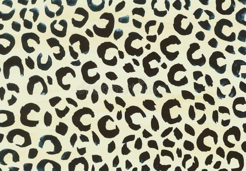 Minimal Leopard Print Pattern In Gouache Stock Illustration