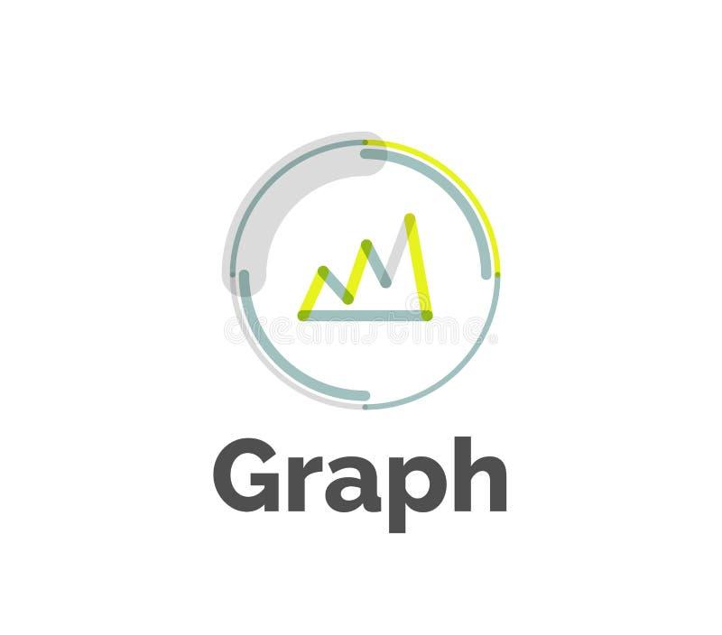 Minimal line design logo. Business icon, branding emblem vector illustration