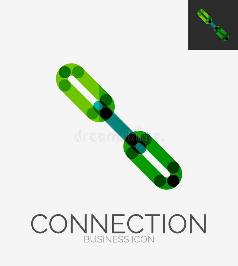 Minimal line design logo, chain icon royalty free illustration