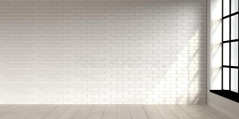 Minimal Living Room Scene Interior Design With White Brick Wall 3d Render Stock Illustration Illustration Of Construction Architecture 203348985