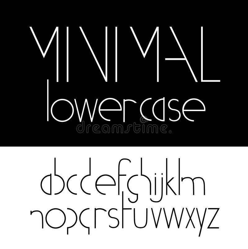 Minimal Lowercase Font Symbol Icon Stock Illustration Illustration