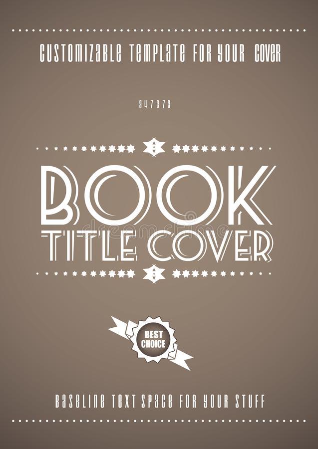 Modern Book Cover Vector : Minimal modern book cover template stock vector image