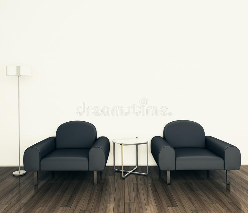 Download Minimal Modern Interior Armchair Stock Illustration - Image: 24195891