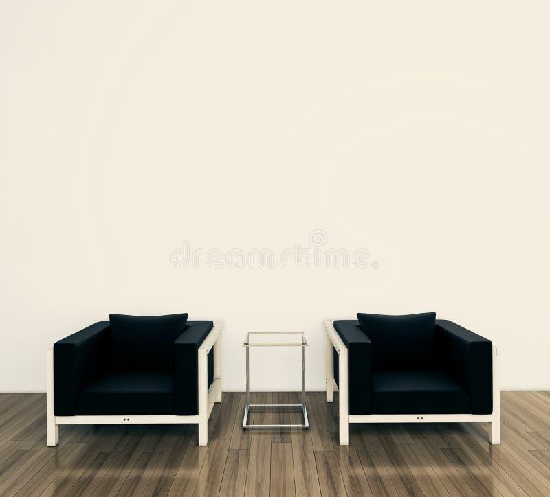 Download Minimal Modern Interior Armchair Stock Illustration - Image: 24699304
