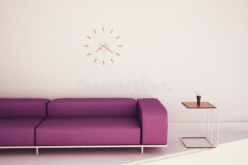 Download Minimal Modern Interior Couch And Table Stock Illustration - Image: 25355941