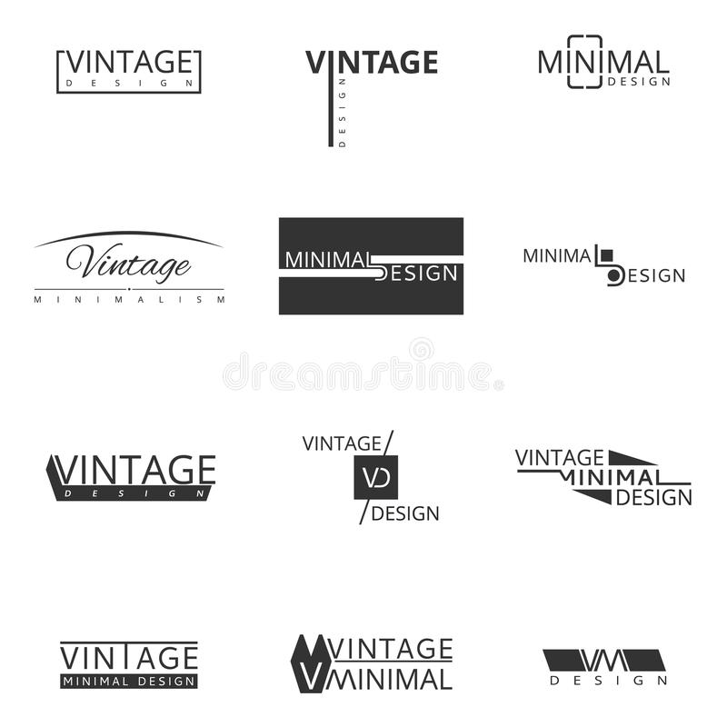 Minimal modern logo design for brand. royalty free illustration