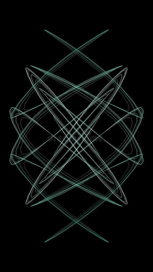 Minimal Neon Green And White Symmetric Design Black Background Wallpaper Stock Illustration Illustration Of Minimal Green 171134516