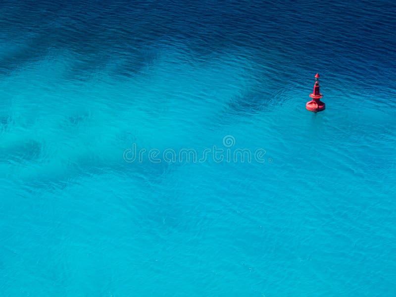Minimal Ocean Buoy. Buoy on the ocean in Caribbean Minimal copy space royalty free stock photography
