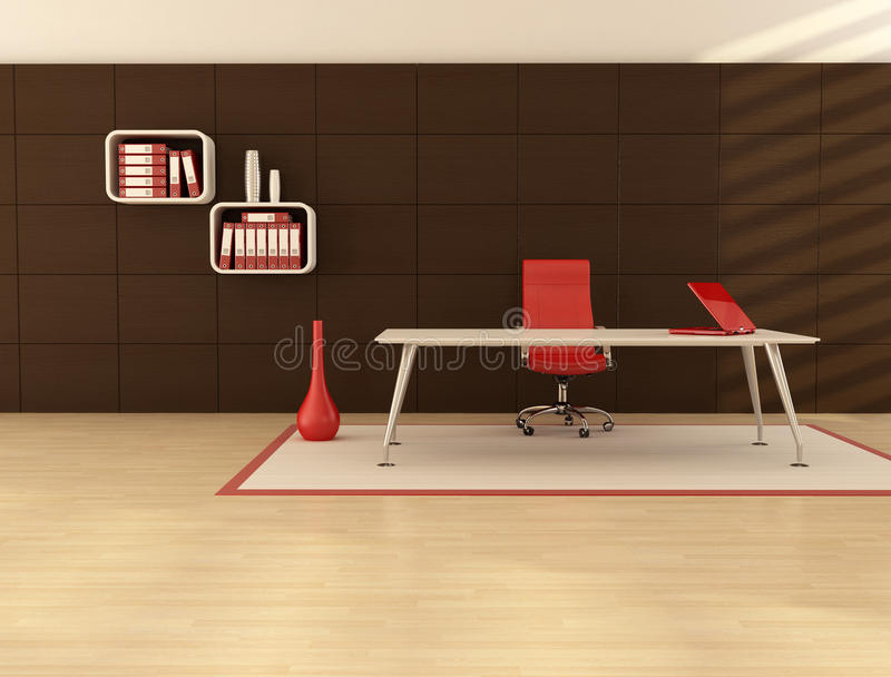Download Minimal office space stock illustration. Image of armchair - 14250009
