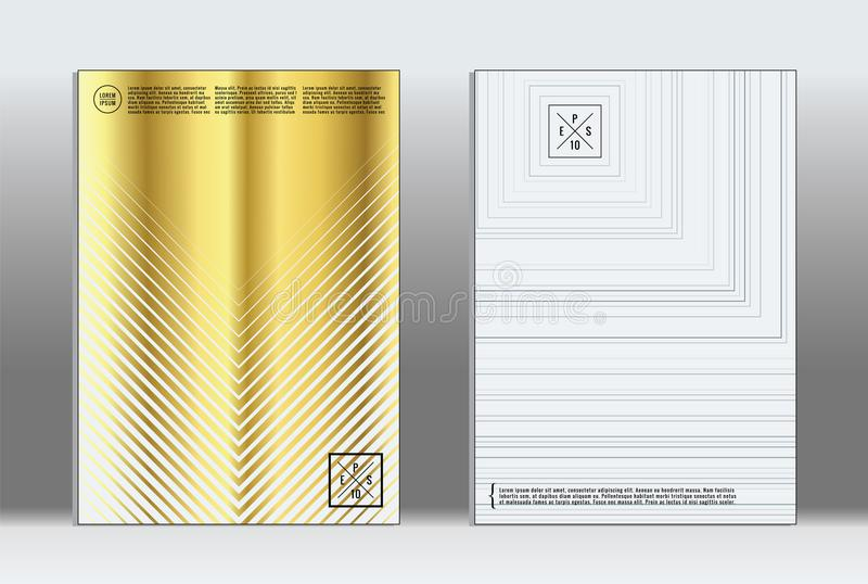 Minimal placard. Vector geometric cover. stock illustration