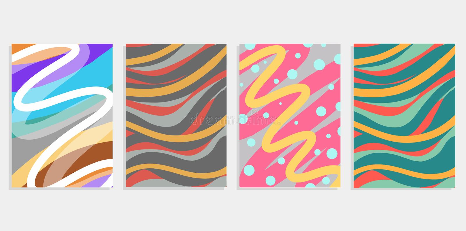 Minimal set abstract background covers design. Colorful halftone gradients. Future geometric patterns. Eps10 vector illustration c stock illustration