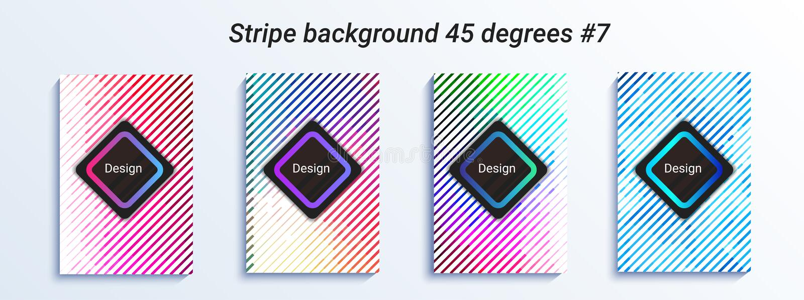 Minimal striped bakcground design. Colorful halftone gradient. Bright geometric pattern. Vector illustration. Abstract striped bakcground design. Colorful stock illustration
