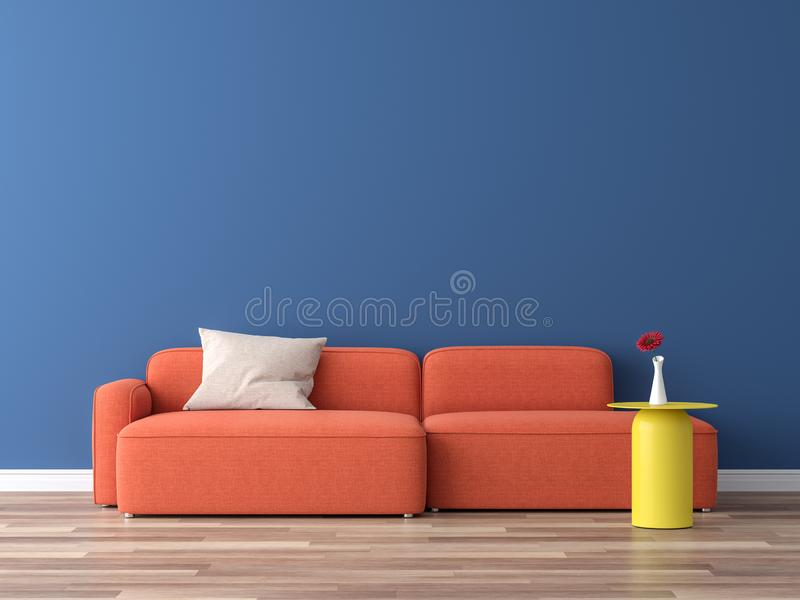 Minimal style interior colorful concept 3d render royalty free illustration