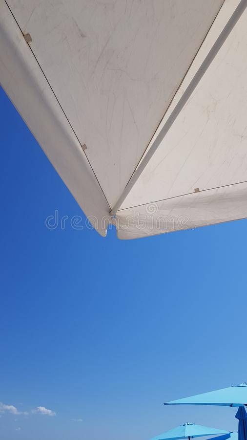Minimal summer background with geometric shapes royalty free stock photo