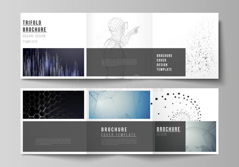 download the minimal vector editable layout of square format covers design templates for trifold brochure