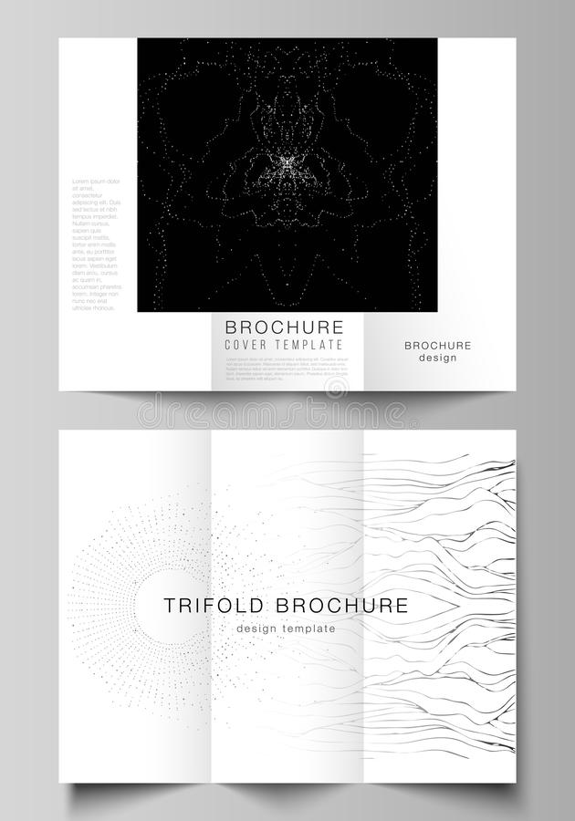 The minimal vector illustration layouts. Modern creative covers design templates for trifold brochure or flyer. Trendy. Modern science or technology background vector illustration