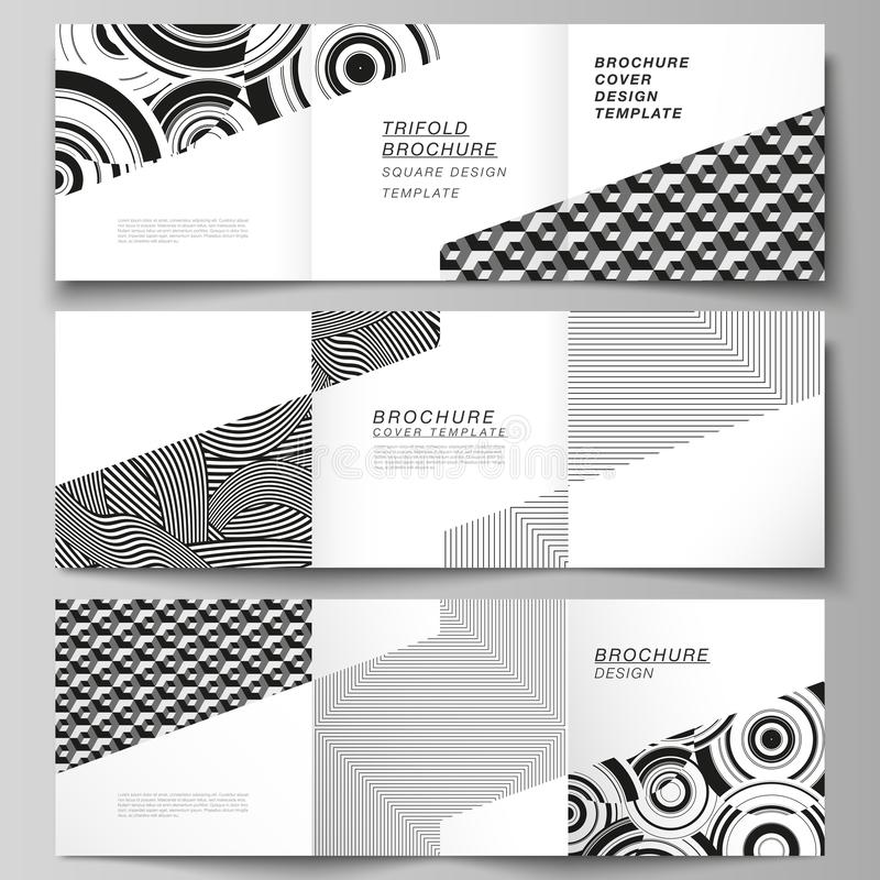 The minimal vector layout of square format covers design templates for trifold brochure, flyer, magazine. Trendy. Geometric abstract background in minimalistic vector illustration