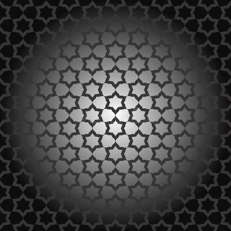 Black seamless vector geometric pattern or template vector illustration