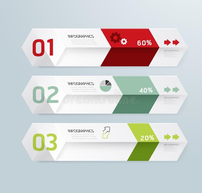 Minimale Art modernen Designs Kasten Infographic-Schablone stock abbildung