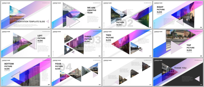 Minimale Darstellungen entwerfen, Portfoliovektorschablonen mit Dreiecken und dreieckige Elemente Vielzweckschablone lizenzfreie abbildung