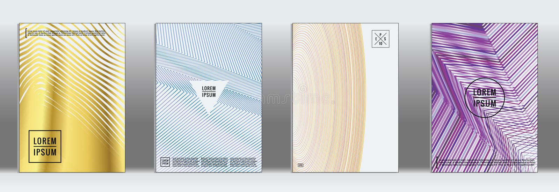 Minimale geometrische Abdeckung Abstrakte Linie Muster des Vektors für Plakatdesign lizenzfreie abbildung