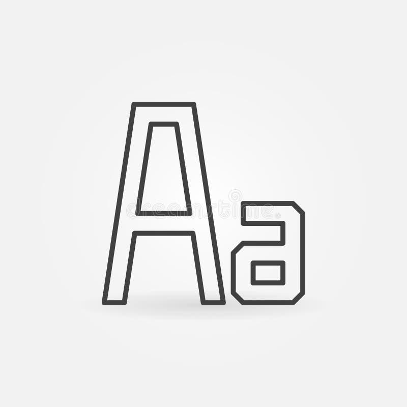 Minimale Ikone des Gussvektors in der dünnen Linie Art lizenzfreie abbildung