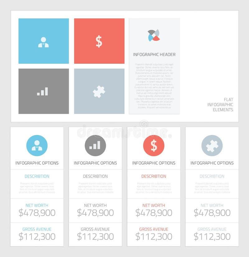 Minimale infographic vlakke bedrijfselementenvector  royalty-vrije illustratie