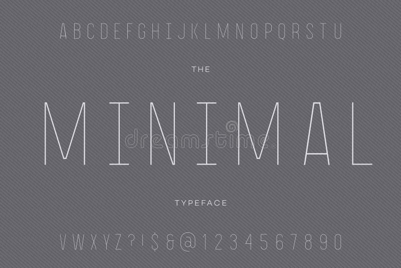 Minimale lettersoort stock illustratie