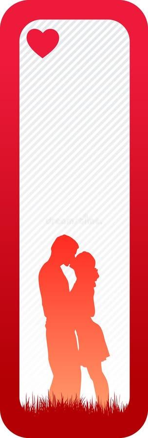 Minimale Liefdebanner Royalty-vrije Stock Afbeelding