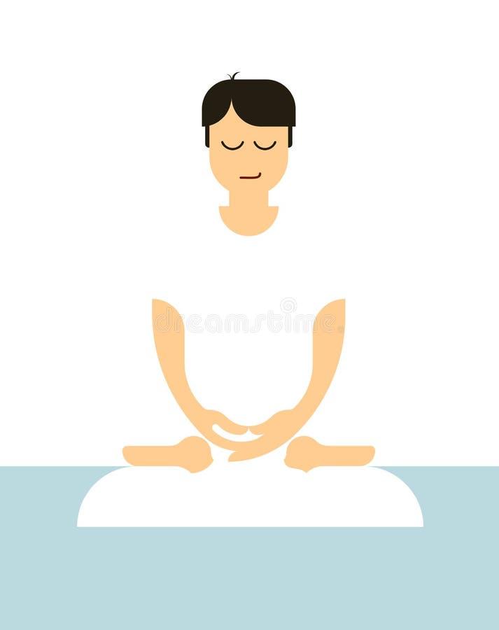 Minimale meditatieillustratie royalty-vrije illustratie