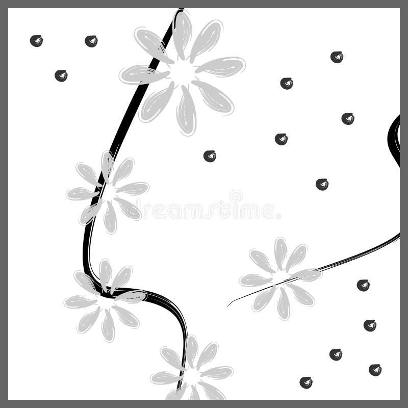 Minimale ontwerp abstracte textuur als achtergrond met bloemen minimalistisch ontwerp voor manier textieldruk vector illustratie