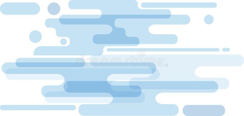 Minimale und moderne Artabstraktion mit der Zusammensetzung gemacht von den verschiedenen abgerundete Form in der Farbe lizenzfreie abbildung