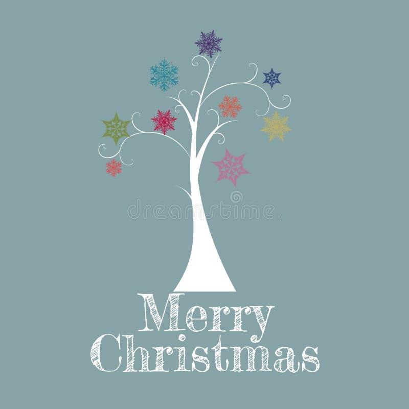 Minimale Weihnachtsbaum-Karte Lizenzfreies Stockfoto