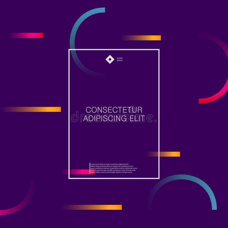 Minimaler abstrakter Hintergrund mit geometrischen Steigungsformen Futuristisches Design für Fahnen, Poster, Abdeckungen und Bros lizenzfreie abbildung