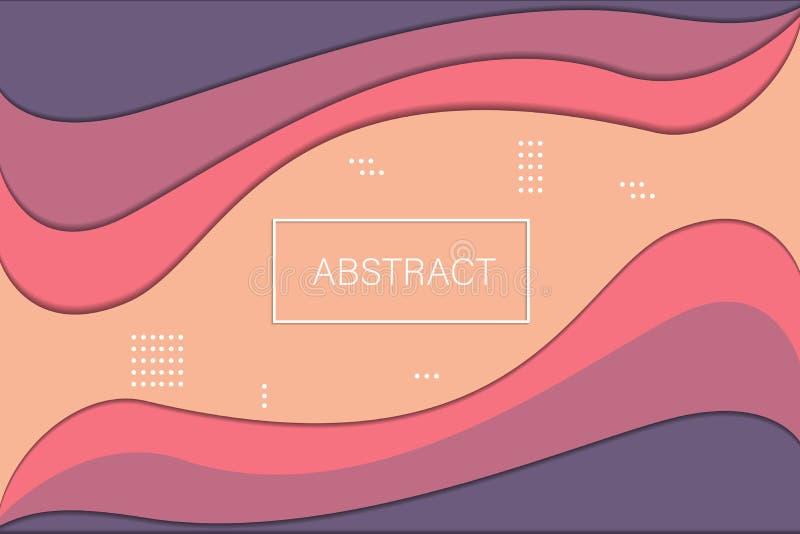 Minimaler abstrakter Papierkunsthintergrund, Vektor lizenzfreie abbildung