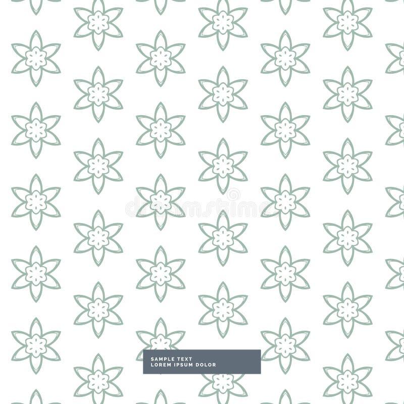 Minimaler Blumenmusterhintergrund vektor abbildung