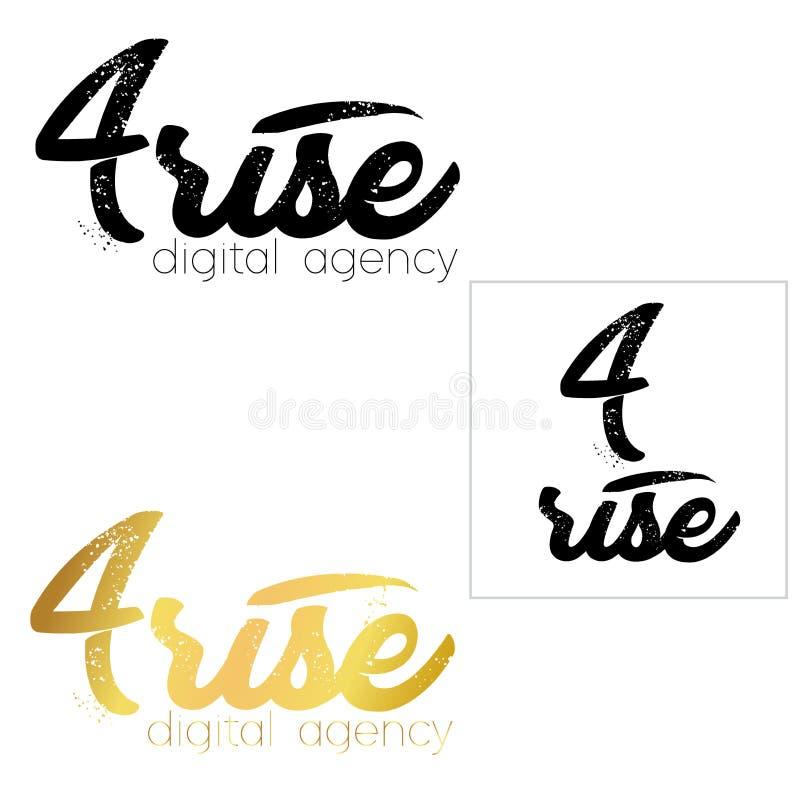 Minimaler Ikonenlogosatz Logoschablone der Nr. vier Diagonal, lizenzfreie abbildung