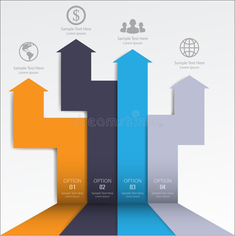 minimaler infographics 3d Pfeil Vektor/Illustration stock abbildung
