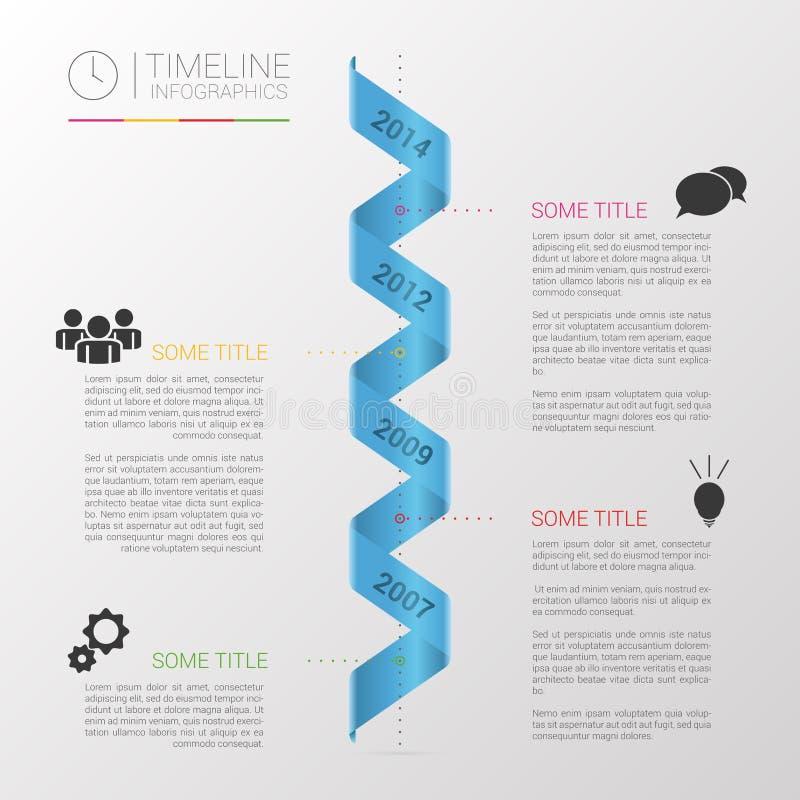 Minimaler infographics Designvektor mit Spirale vektor abbildung